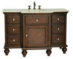 "48"" Diana (DA-672) : Bathroom Vanity #BathroomRemodel #BlondyBathHome #BathroomVanity  #TraditionalVanity"