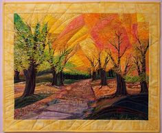 Pamela Druhen Fine Art - there's so much warmth in this art #quilt! It reminds me of sunset