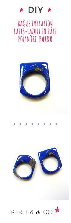 Le lapis-lazuli est une roche utilisée depuis l'antiquité dans la décoration et la bijouterie. De couleur bleu intense et profond, le lapis-lazuli permet de créer de jolis bijoux avec une touche bohème. Pour créer un bijou DIY, on vous propose de reproduire cette roche en vous apprenant comment créer une imitaion lapis azuli en pâte polymère Pardo. #diy #polymère #tutoriel #tuto #pardo #pâtepardo #vivadecor #polymer #clay #bague