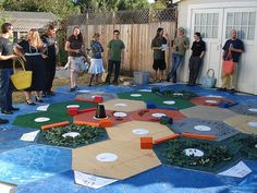 Giant Settlers of Catan game board. Giant!