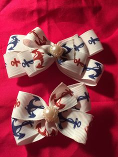 A personal favorite from my Etsy shop https://www.etsy.com/listing/500300106/anchor-hair-bows