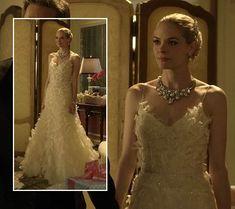 Lemon's wedding dress on Hart of Dixie. Outfit Details: http://wornontv.net/3732/ #HartofDixie #TheCW