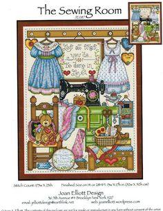 Sewing Room, The - Cross Stitch Pattern - 123Stitch.com