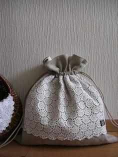 Handmade | puredays Shoping Bag, Potli Bags, Lavender Bags, Sack Bag, Simple Bags, Linen Bag, Bag Patterns To Sew, Fabric Yarn, Cotton Bag