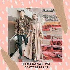 Setelan Dress Batik Couple Sarimbit Kombinasi Broklat Sarwendah Dress Kemeja Lengan Panjang Batik Couple, Couples, Blouse, Model, Tops, Fashion, Moda, Fashion Styles