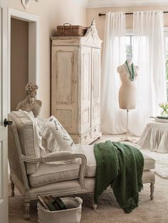 Whitewashed Armoire - The French Inspired Room