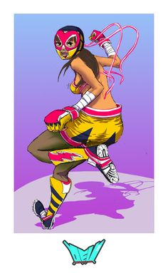 LIGHTNING LUCHADORA DIAZ  by ~digital-z3ro
