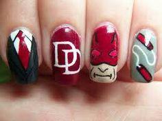 Daredevil Nail Art