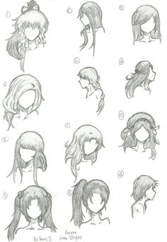Hair Styles 1-12 by animebleach14 on DeviantArt