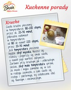 Kruche ciasto Polish Recipes, Kitchen Hacks, Superfoods, Cool Kitchens, Good To Know, Diy And Crafts, Good Food, Food Porn, Easy Meals