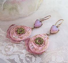 Fire Opal Heart earrings romantic gift for her by LaCamelot