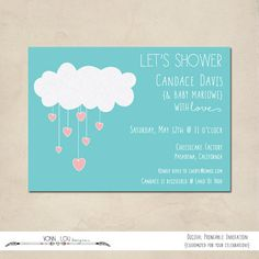 baby shower invitation showering with love by VonnLouDESIGNS, $15.00