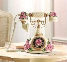 victorian pink rose phone