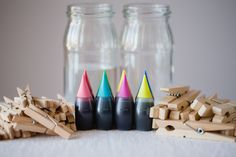 DIY Stained Clothespins | Hellobee