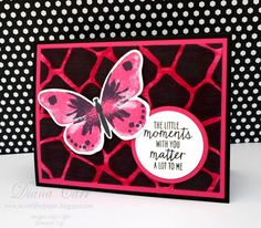 Stampin' Up! Watercolor Wings Card with Go Wild DSP