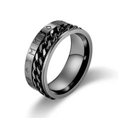 Valily Norse Viking Symbol Ring Stainless Steel Gold/Black Cuban Link Rotating Ring for Men Band wedding Rings Jewelry Wedding Ring For Him, Wedding Rings, Black Rings, Silver Rings, Viking Symbols, Norse Vikings, Ring Size Guide, Viking Jewelry, One Ring