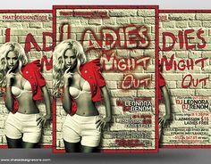 """Check out new work on my @Behance portfolio: """"Ladies Night Flyer Template V7"""" http://on.be.net/1E024iM"""
