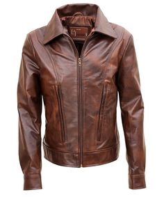 Vintage Brown Leather Biker jacket worldwide delivery and special discount offers at leather jacket UK