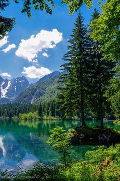Lago di Fusine, Tarvisio, Friuli - Venezia Giulia, Italia