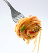 Whole-Wheat Pasta with Ripe Tomatoes, Fresh Mozzarella, and Fresh Herbs- Delicious, fast, and healthy dinner.  Love it.