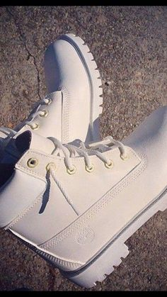 Free Shipping White Timberland boots by MBKSHOETIQUE on Etsy