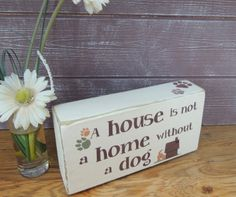 Whimsical wooden shelf block for a dog lover by SallyGristArtwork, £9.00