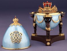"""(3) FABERGE eggs__Theo Faberge___ """"Hermitage""""  Museum in St Petersburg provided great design inspiration. In particular a trip in 1993 was his impetus for an egg to celebrate the 250th Anniversary of the Hermitage Museum, the Hermitage Egg."""