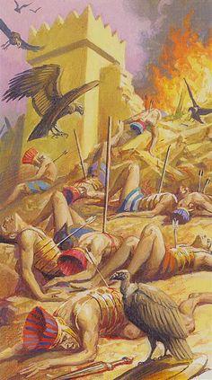 10 d'épées - Ramsès : Tarot de l'éternité par Severino Baraldi
