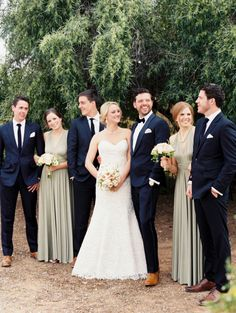 Silver and Navy Wedding Party.