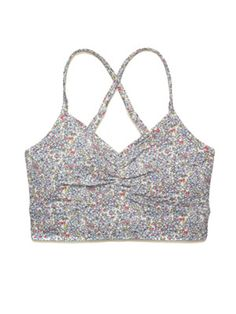 The Prettiest Sports Bra! For a low impact workout these Aerie bras can't be beat because they are so soft and comfy. I love the tiny floral print—it's the perfect little peak of pattern underneath a racerback tank. Aerie Low Impact Sports Bra, $20, aerie.com