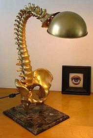 Spine Lamp Adds A Touch Of Creepy To Any Office. way too cool to not have. anyone know where i can get 1,500$?