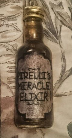 Pirelli's Miracle Elixir finished sample with contents