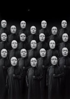 The NAUGHTY NAYSAYERS in our minds: Doubt, Fear, Low Self-Worth/-Value/-Esteem... [Artist: Misha Gordin, Crowd]