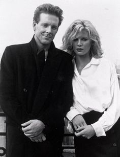 Mickey Rourke and Kim Bassinger in 9 1/2 weeks