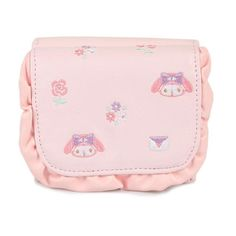 Sanrio Original Japan My Melody Women Mini Wallet Leather Embroidery Purse Card  #SanrioJapan