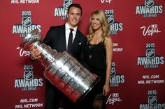 Jonathan Toews wins Mark Messier Leadership Award Lindsey Vecchione  #LindseyVecchione