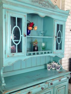 Antique Hand Finished China Hutch