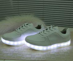7 Colores Luminosos Zapatos Unisex Led Resplandor Chicos/Chicas Moda Zapatos Para Adultos USB Recargable de Luz Led LED zapatos