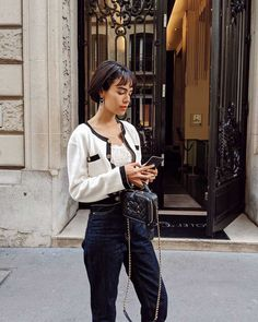 Paris Fashion, Love Fashion, Girl Fashion, Autumn Fashion, Vintage Fashion, Casual Fall Outfits, Cool Outfits, Short Hair Outfits, Daily Dress