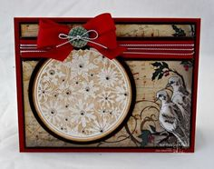 Stamps - Our Daily Bread Designs:Christmas Pattern Ornament, ODBD Christmas Paper Collection 2013, ODBD Custom Circle Ornaments Die