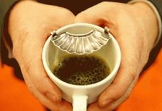 Keep your moustach dry and clear from frothy coffee!