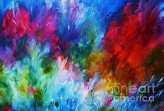 Explosion of Colour  Watercolour by Artist Sharon Wood swoody@adam.com.au