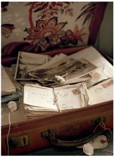 suitcase of old letters
