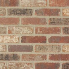 Old Mill Brick Colonial Collection Castle Gate 7.5 in. x 2.25 in. x 9/16 in. Clay Thin Brick Corner (Case of 25), Multi-Colored