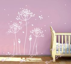 flower vinyl wall decal wall decal nursery wall by NatureStyle, $45.00