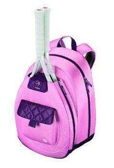Wilson Hope Backpack by Wilson. $43.40. Help the fight against breast cancer when you carry the exclusive HOPE Tennis Backpack from Wilson.  This stylish & sleek bag features a soft to the touch fabric, a main compartment for clothing and shoes, a front zippered pocket to hold as many as 2 racquets and a front accessories pocket.  The padded air mesh back and straps make this backpack comfortable to carry.  PVC free.  Wilson is donating 1% of the sale of this HOPE product t...