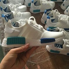 more photos ac141 13758 Where To Buy Unisex Adidas Originals NMD Runner Mesh White Blue Turquoise  Popular Shoes, Popular