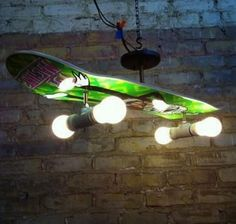 Skateboard hanging lamp