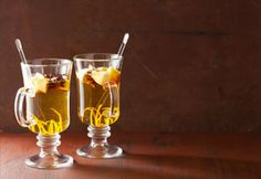 Get your holiday off to a delicious start with yummy Slow Cooker Gingered-Pear Wine Toddy.