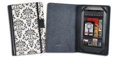 Verso Versailles Case Cover for Kindle Fire - Black/White.  The result: a transformation of your e-reader from techie gadget to versatile stylish accessory…one you'll be happy to show off on your daily commute, no matter who's in the next seat over.